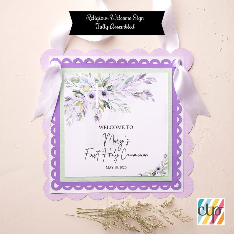 Daughter, First Communion Decoration Welcome Sign