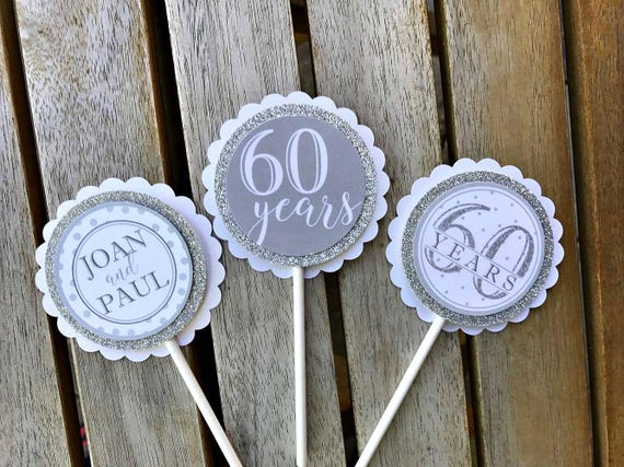 Diamond Jubilee Decorations 60th Wedding Anniversary Decor Etsy