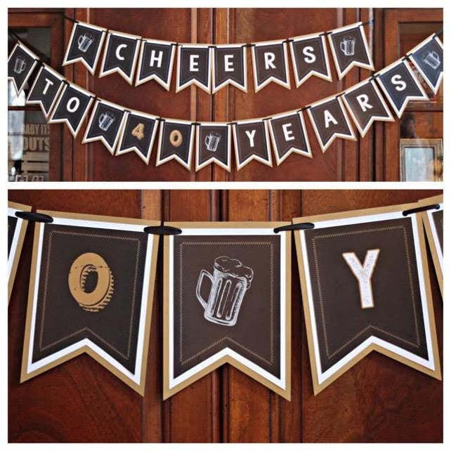 40TH BIRTHDAY DECORATIONS 40th Birthday Party Welcome Sign Door Yard Masculine For Him Black And Gold