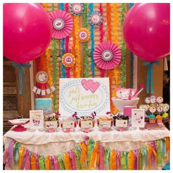 SLEEPOVER PARTY DECORATIONS Slumber Party Decor Up All Night Tween Birthday Teen Sleepover Package