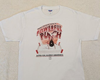 a8dfbe8fe7 Alpha-Gal Allergy Awareness T-shirt - Lone Star Punch - Size Small