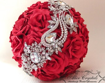 Brooch Bouquet, red Bouquet