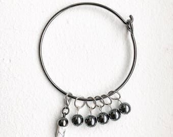 Monochrome Stitch Markers for Knitting