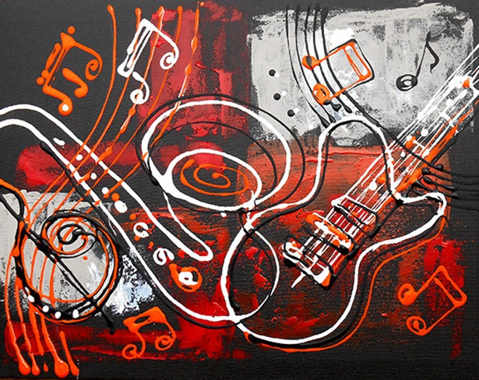 ORIGINAL ART, Abstract Painting , Abstract, Wall Art , Modern Painting, Gift for Jazz Music lover, Painting, stretched on a wooden frame