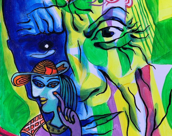 Canvas Art Contemporary Decorative Portrait of Pablo Picasso Modern Abstract Print Home Decor by Leon Zernitsky