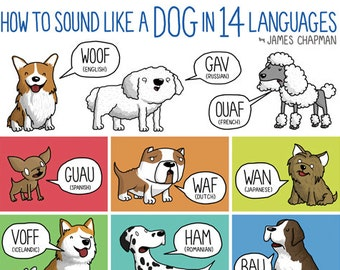 Dog Sounds (A3 poster)