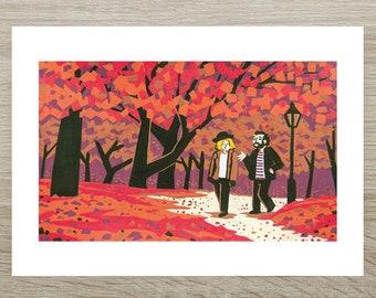 When Harry Met Sally - Valentine's Posca Print (A5)
