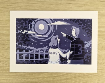 It's a Wonderful Life - Christmas Posca Print (A5)