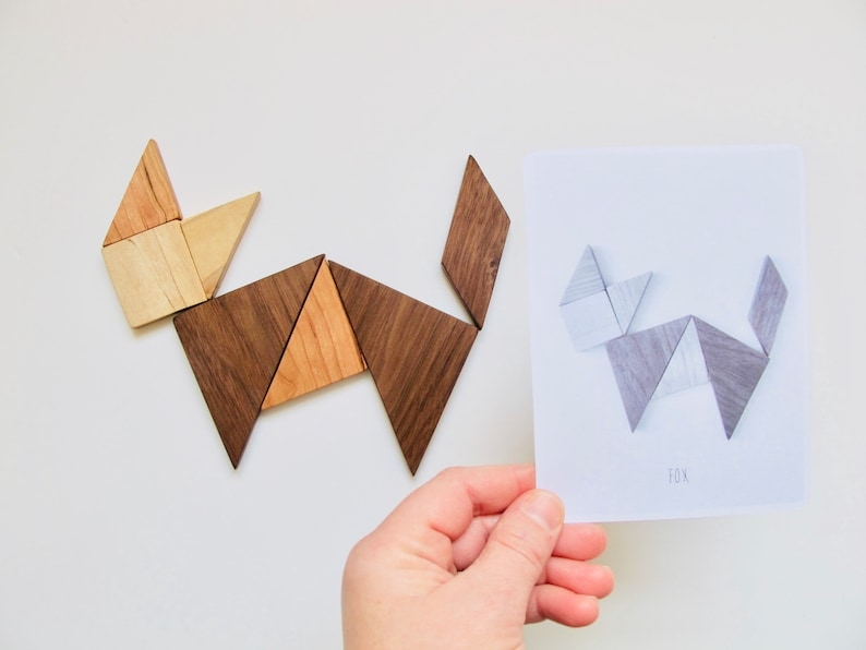 Tangram Set and Puzzle cards image 0