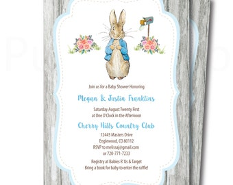 Peter Rabbit Baby Shower Invitation Etsy
