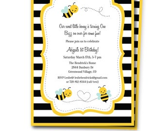 Bumble bee invite etsy bumble bee party invitation includes free thank you note bumblebee birthday party invitation bumble bee invite edit now templett filmwisefo