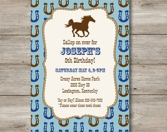 Horse Invitation with Changeable Text, Printable Horse Invitation with Editable Text, Horse Party Invitation, Custom Horse Party Invite