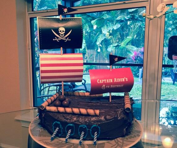 Piraten Kuchen Topper Druckbare Piraten Geburtstagskuchen Etsy