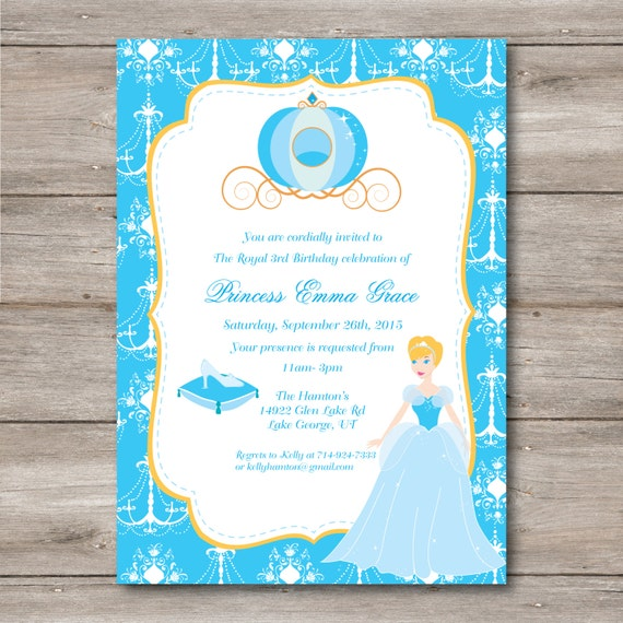 Princess Birthday Invitation With Editable Text