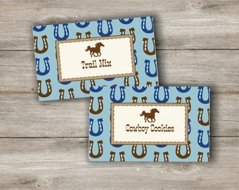 Horse Party Food Tent Cards with Changeable Text, Printable Horse Food labels, Horse Birthday Party, Western Birthday, Instant Printable PDF