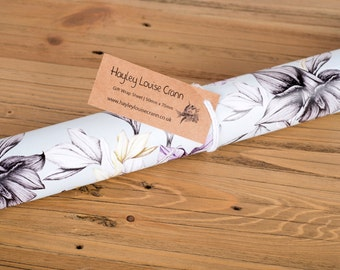 SALE Aquilegia Gift Wrap, Wrapping Paper, Nature Wrap, Decorative Wrap, Packaging, Present Wrap.
