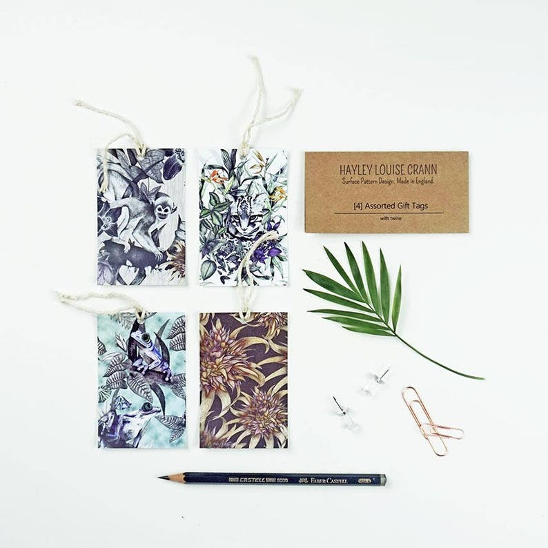 Pack x4 Rainforest Gift Tags