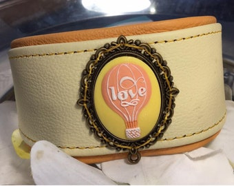 Leather Collar Loveballoon * Special Price *