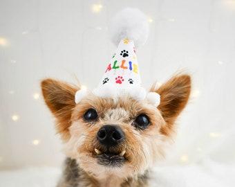 Personalized Rainbow Dog Birthday Hat, Party Hat for Dog, Puppy Party, Personalized Dog Party Hat