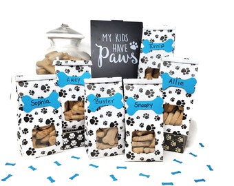 Paw Print Favor Bags for Dog Birthday Party, Puppy Birthday, Party for Dog
