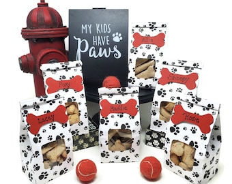Paw Print Party Favor Bags for Dog Birthday Party, Puppy Birthday, Dog Party Favors, Party for Dog