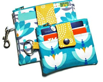 Keychain Wallet Pattern, PDF  Sewing Pattern, Mini Zip and Oh Snap! Wallets, Girl's and Women's Accessories