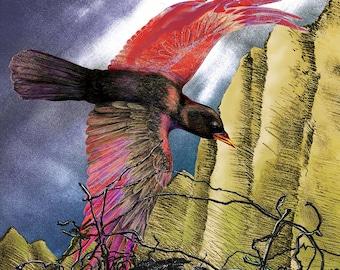 Fine Art Greeting Card | Raven + Nest | 5.5 x 8.5