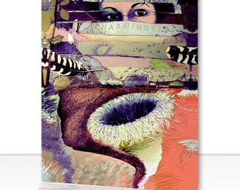 Greeting Card - Surreal Dreamscape collage, 5 x 7