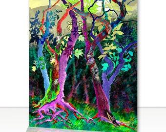"""Fine Art Greeting Card - Woodland Fantasy, 5"""" x 7"""""""