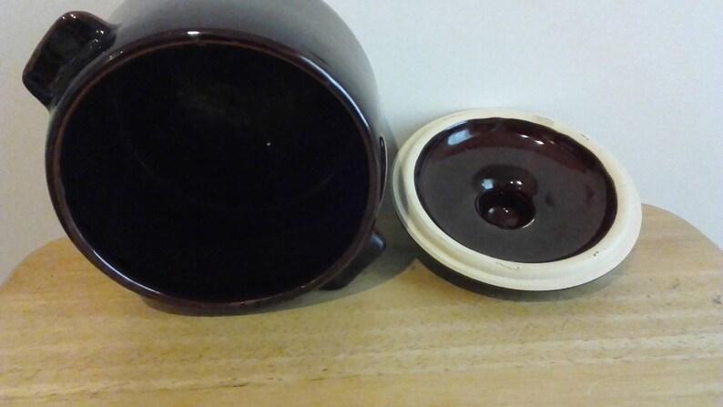 West bend ceramic bean pot