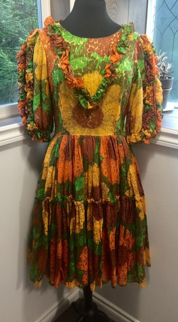 1960's Circle Dress /Square Dancing Dress / Cospla