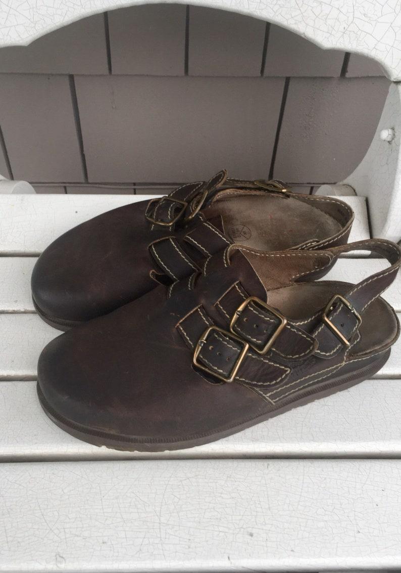 260875fcf50c Dark Brown Double Buckles Dr. Marten Men s Sandals made