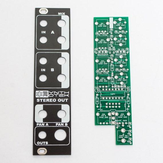 Synthrotek 1U UniBuffer Eurorack Module PCB and Panel Combo Unity Gain Buff Mult