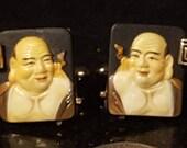 Elegant oriental design Swank vintage cufflinks Toshikane hand made oriental wiseman offered by Vintage Men 39 s Swag E0-O