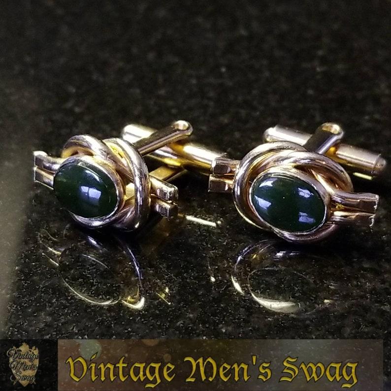 Vintage onyx cufflinks offered by Vintage Men/'s Swag Adg-20