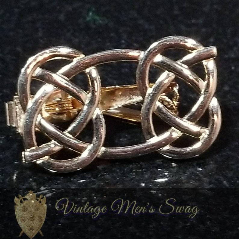 Vintage tie clip celtic knot Swank by Vintage Men/'s Swag Acr-1