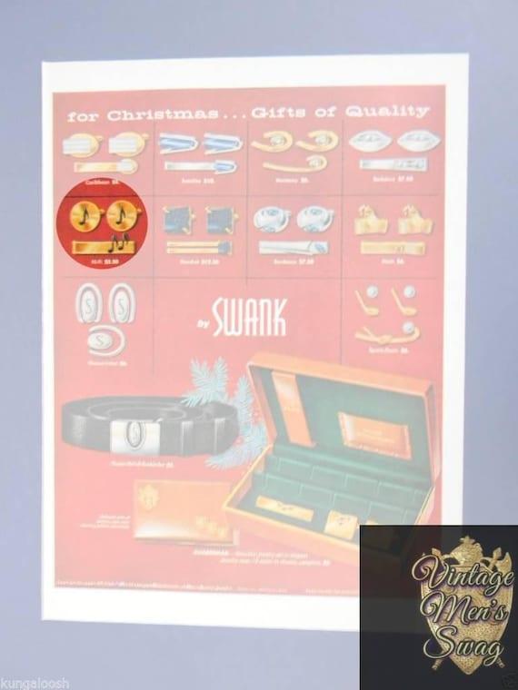 vintage cufflinks Swank musical note on album offered by Vintage Men/'s Swag  FS-21  bgd-6