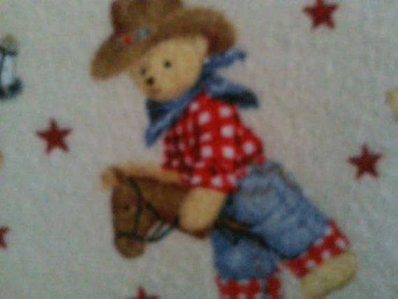 VICTORIAN TEDDY BEAR PORTRAITS COTTON CRIB SHEET //FITTED