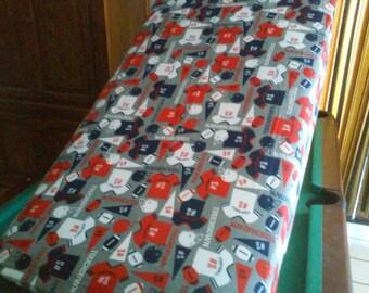 Flannel Fitted Crib Sheet / Football Crib Sheet / Sports Crib Sheet / Gray Football Crib Linen/Flannel Crib Bedding/Gray FootballToddler Bed