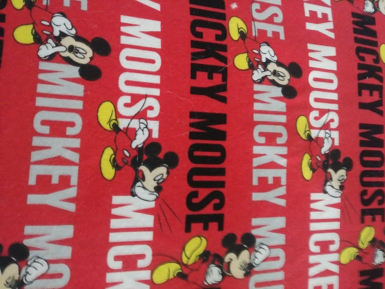 Micky Mouse Fitted Crib Sheet  Red Cotton Micky Infant Bedding  Red Standard Fitted Crib Bedding  Toddler Micky Mouse Bed Sheet