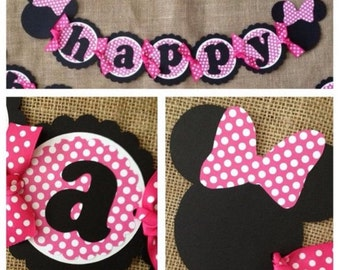 Minnie Mouse Birthday Banner Party Decoration