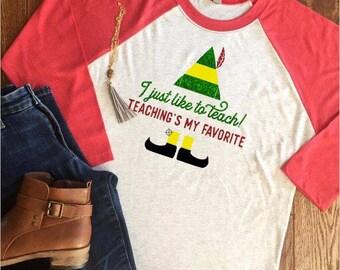 teacher christmas shirt etsy