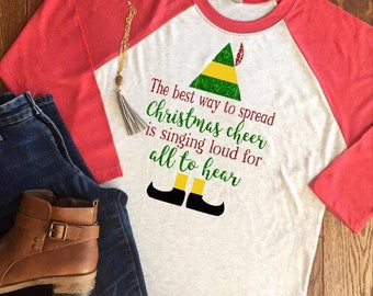 Best Way to Spread Christmas Cheer Shirt, Christmas Elf-inspired shirt, Elf Christmas Shirt, Spreading Christmas Cheer