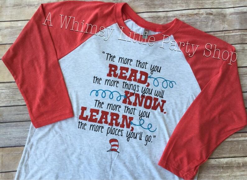 a40bfde7 The More You Read Shirt, Shirt, Read Across America Shirt, The more you  know shirt, Teachers Shirt, Teacher Gift, Teacher Week