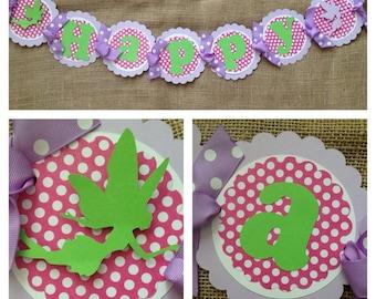 Fairy Birthday Banner, Fairy Party Banner, Fairy Birthday Decorations, Garden Party Banner, Fairy Party Decorations