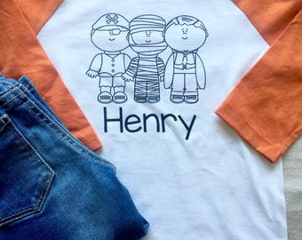Boys Halloween Shirt, Trick or Treat Shirt, Boys Halloween Raglan