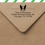 Custom return address stamp - personalized self inking stamp - Smooshface dog breeds - return address stamp with dog - dog gift under 40