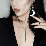 Telum Choker - Sword - Necklace - Silver - Dagger - Dark - Witchy - Goth - Gothic - Choker - Black Metal - Jewelry - Occult - Tarot