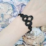 Medusa - Black - Snake  - Bracelet - Chain - Dark - Goth - Gothic - Witchy - Black Metal - Jewelry - Snake Bracelet - Brass - Serpent
