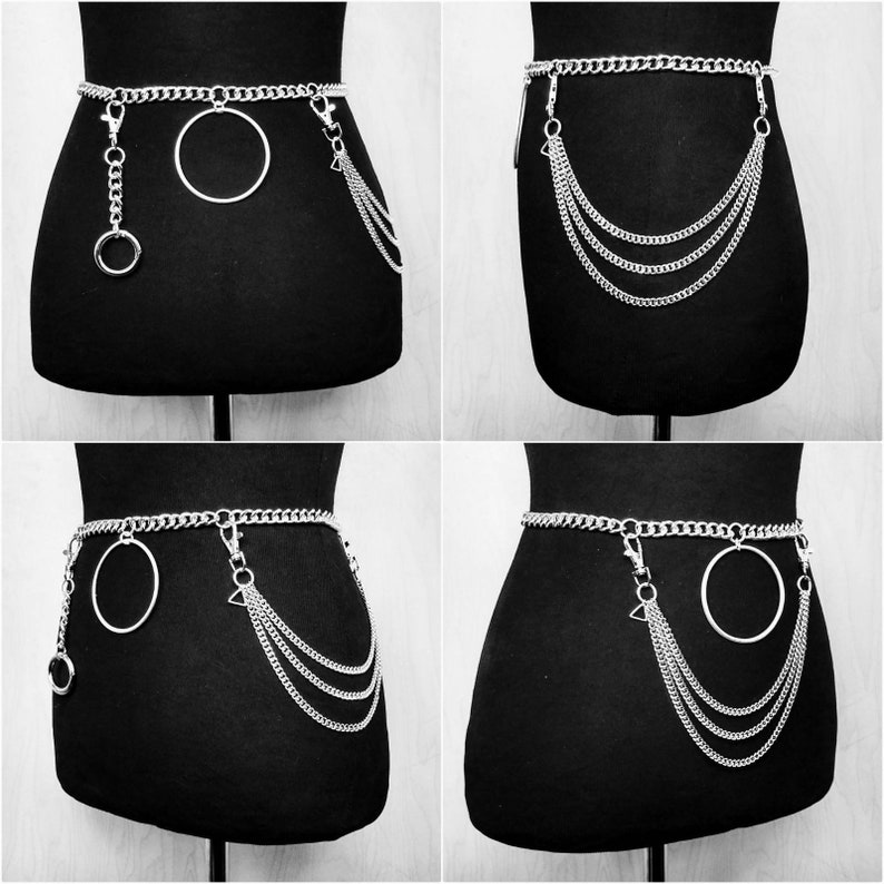 Valkyrie  Belt  Silver  Chain  High Waist  Adjustable  image 0